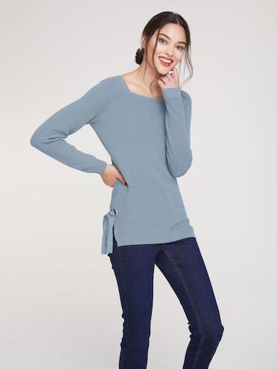 Megztinis iš heine , spalva - mėlyna / pilka: Vaizdas iš priekio
