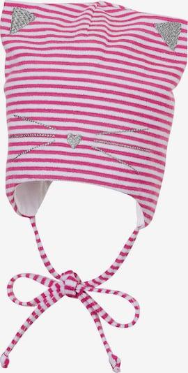 STERNTALER Mütze in pink / silber / weiß, Produktansicht