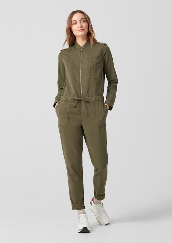 s.Oliver Overall in khaki: Frontalansicht