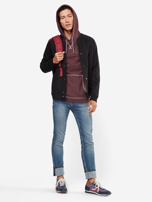 TOM TAILOR DENIM Sweatshirt 'hoody with contrast stitchings'