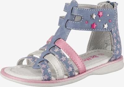Be Mega Sandale in taubenblau / rosa / silber, Produktansicht