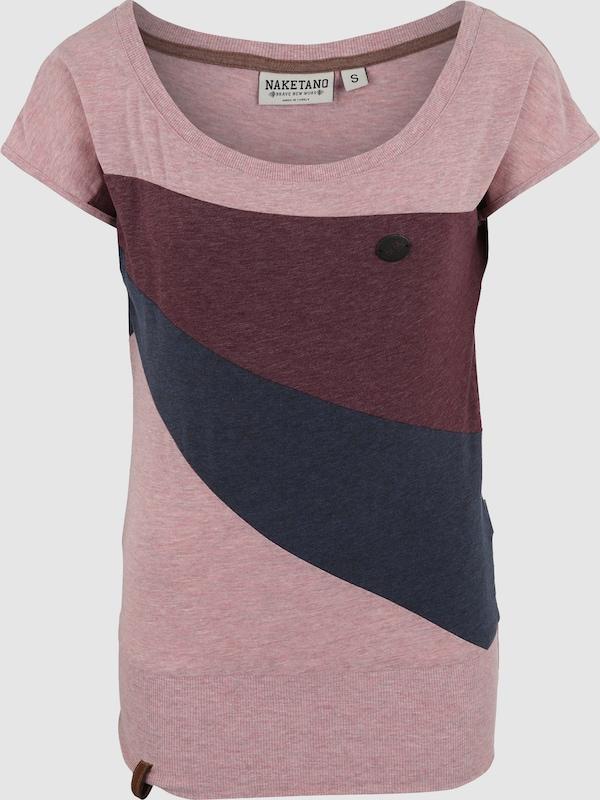 1c65402320 naketano Póló 'Herbert' tengerészkék / pitaja / fáradt rózsaszín színben |  ABOUT YOU