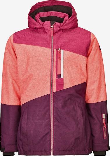 KILLTEC Skijacke 'Torey' in beere / lachs / pink, Produktansicht