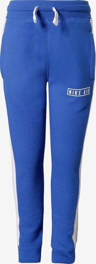Nike Sportswear Jogginghose 'Air' in blau / graumeliert / weiß, Produktansicht