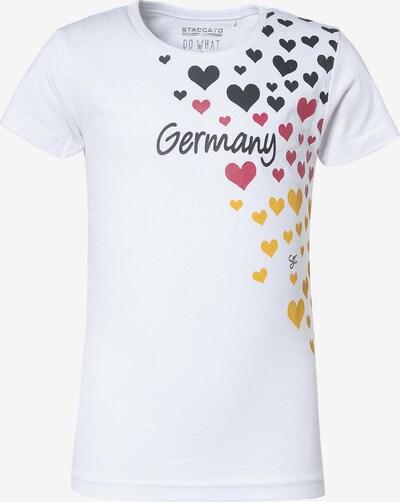 STACCATO Shirt in goldgelb / pitaya / schwarz / schwarzmeliert / weiß, Produktansicht