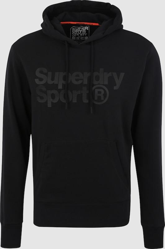 Superdry Sportsweatshirt 'CORE SPORT OVERHEAD' in schwarz  Freizeit, schlank, schlank