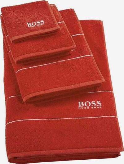 BOSS Home Waschhandschuh 'Plain' in rot, Produktansicht