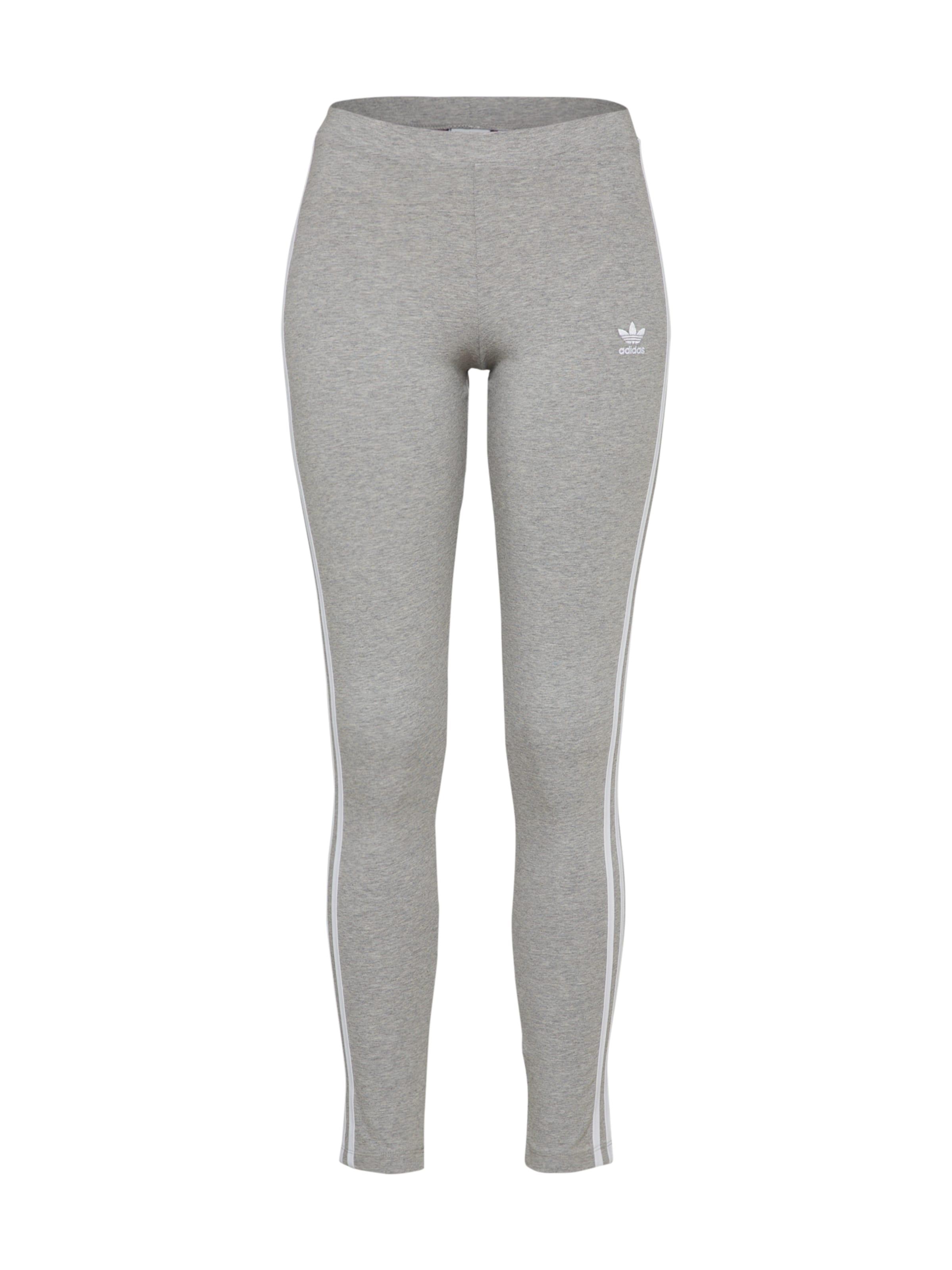 In Stripes' Adidas '3 Originals Leggings GraumeliertWeiß hdQsrtC