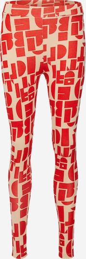 EDITED Leggings 'Marei' en beige / rouge, Vue avec produit