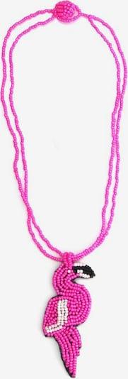 COLLEZIONE ALESSANDRO Kette 'Flamingo, C2607A - F200' in pink / schwarz / weiß, Produktansicht