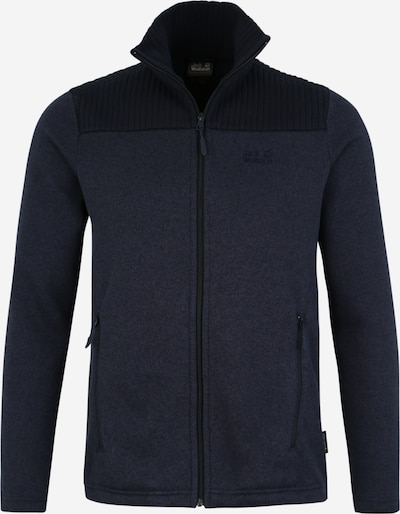 JACK WOLFSKIN Funktionele fleece-jas 'Scandic' in de kleur Nachtblauw / Donkerblauw, Productweergave