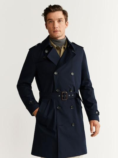 MANGO MAN Tussenjas in de kleur Navy, Modelweergave
