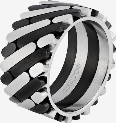 ZIPPO Ring Farbmix in schwarz / silber, Produktansicht