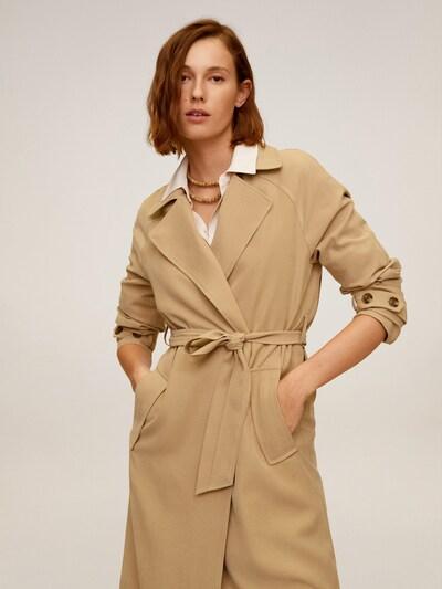 MANGO Mantel in beige, Modelansicht