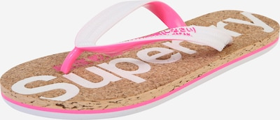 Superdry Zehentrenner in beige / pink / weiß, Produktansicht