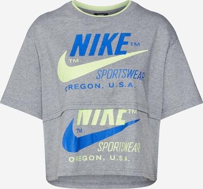 Nike Sportswear Shirt 'W NSW ICN CLSH SS TOP' in gelb / grau, Produktansicht