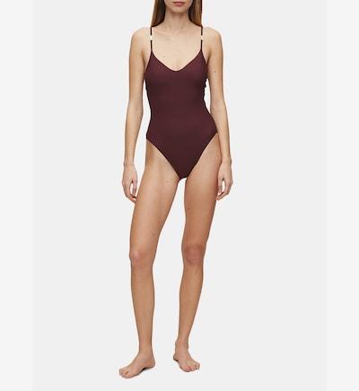 Calvin Klein Swimsuit 'Core Solids' in weinrot, Modelansicht