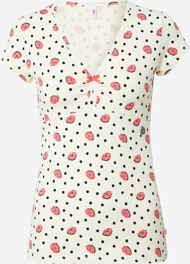 Tricou 'Mon Coeur' Blutsgeschwister pe roșu / negru / alb, Vizualizare produs