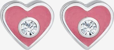 ELLI Ohrringe 'Herz' in pink / silber, Produktansicht