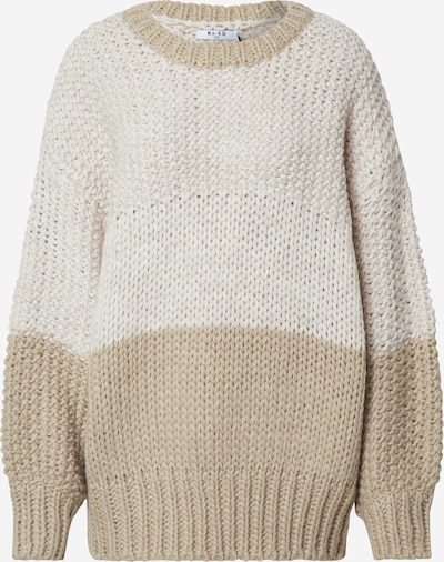 NA-KD Pullover 'two coloured heavy knitted sweater' in weiß, Produktansicht
