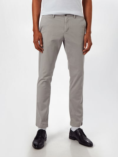 TOMMY HILFIGER Chinohose 'BLEECKER TH FLEX SATIN CHINO GMD' in silbergrau, Modelansicht