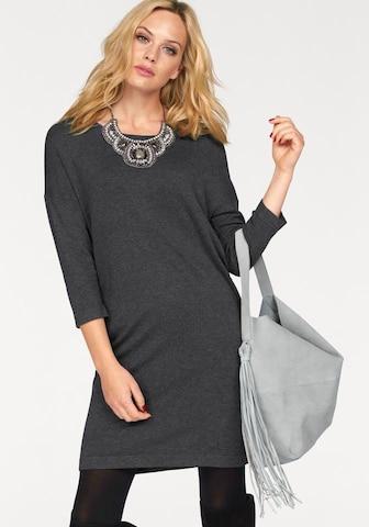 VERO MODA Knitted dress 'VMGlory Vipe Aura' in Grey