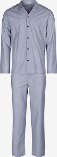 HUBER Pyjama Woven Tender mit Knopfleiste in blau, Produktansicht