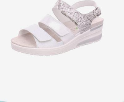 WALDLÄUFER Sandale in beige / hellgrau / silber, Produktansicht