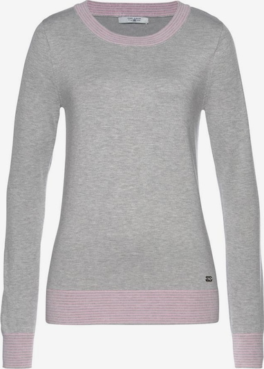 Tom Tailor Polo Team Pullover in grau / pink, Produktansicht