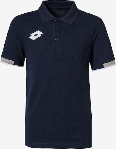 LOTTO Poloshirt in nachtblau / graumeliert / weiß, Produktansicht