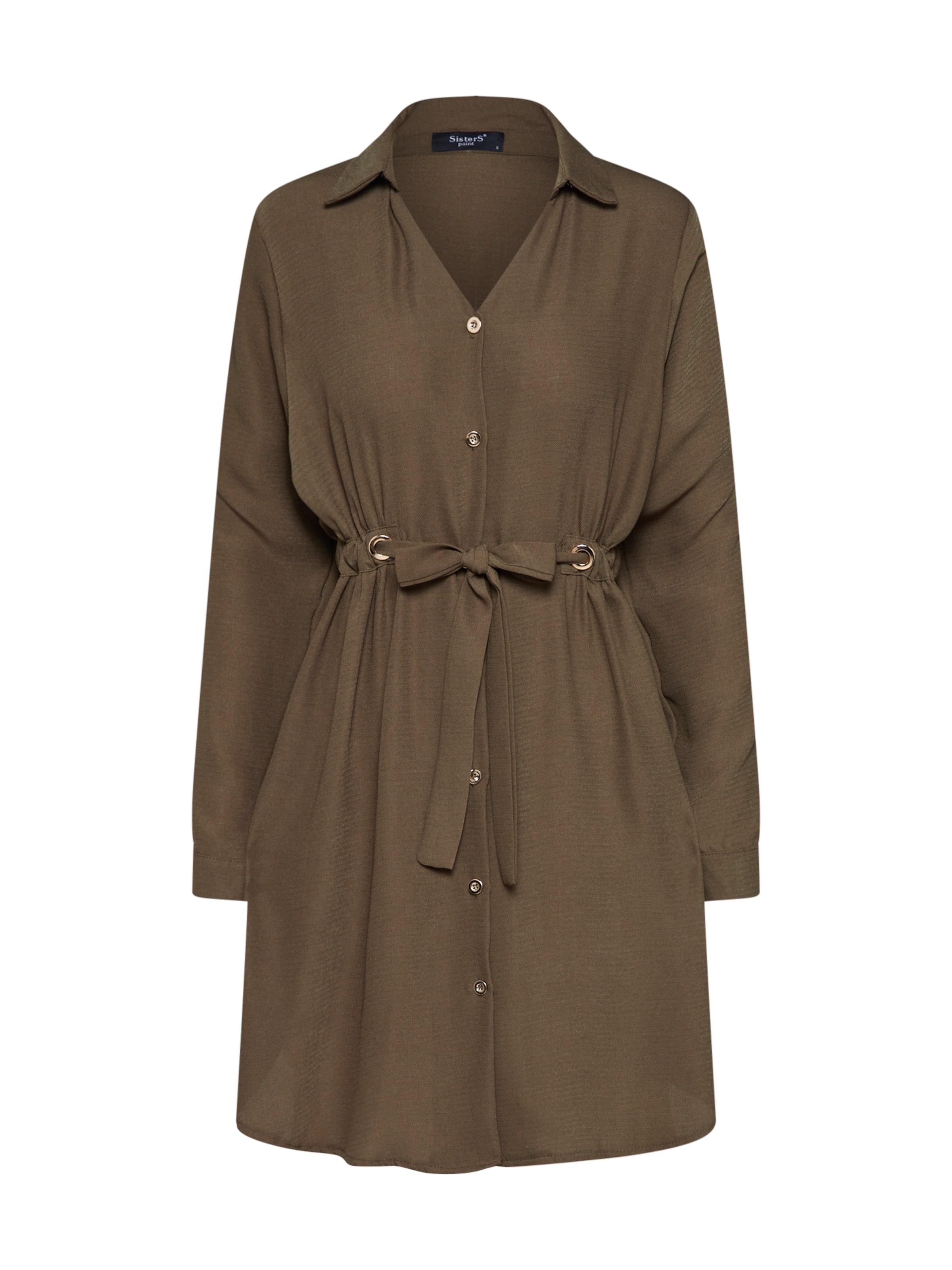 Robe Sisters 'nimp Point chemise En Kaki dr' uT3FKJl1c