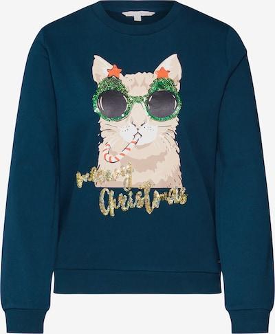 TOM TAILOR DENIM Sweatshirt 'christmas' in tanne / mischfarben, Produktansicht