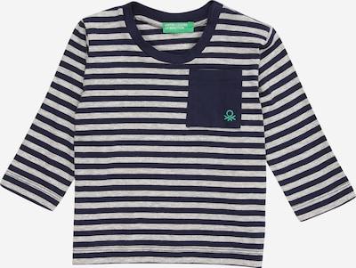 UNITED COLORS OF BENETTON T-Shirt in dunkelbraun / hellgrau / grün, Produktansicht