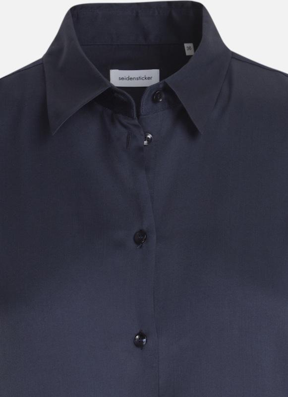 SEIDENSTICKER HemdBlause HemdBlause HemdBlause 'Schwarze Rosa' in blau  Mode neue Kleidung 99a69d