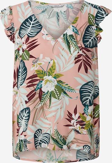 ONLY Haut 'ONLELISA CAPSLEEVE V-NECK TOP WVN' en mélange de couleurs, Vue avec produit