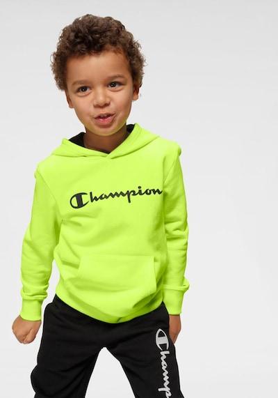 Champion Authentic Athletic Apparel Sweatshirt in neongelb / schwarz: Frontalansicht