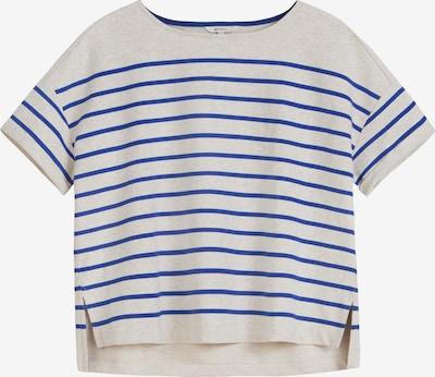 Sandwich T-Shirt in blau / graumeliert, Produktansicht