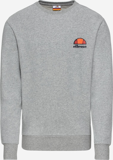 ELLESSE Sweatshirt 'Diveria' in navy / hellgrau / orange / orangerot, Produktansicht