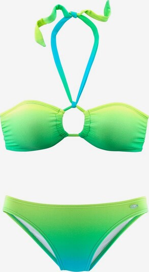 KangaROOS Bandeau-Bikini in türkis / limone / kiwi, Produktansicht