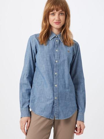 Polo Ralph Lauren Bluse 'CHAMBRAY' i blå
