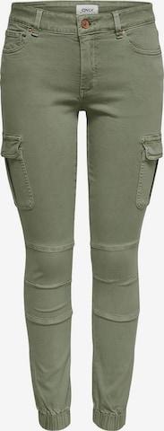 Pantalon cargo 'Missouri' ONLY en vert