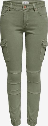 ONLY Pantalon cargo en olive, Vue avec produit