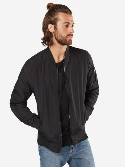 Urban Classics Tussenjas 'Light Bomber Jacket' in de kleur Zwart: Vooraanzicht