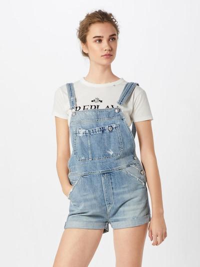 Pantaloni raiați 'Salopette' REPLAY pe denim albastru, Vizualizare model