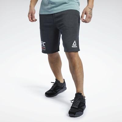 REEBOK Sportbroek in de kleur Rood / Zwart / Wit: Vooraanzicht