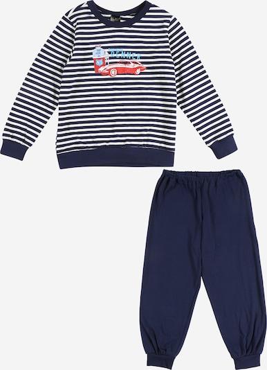 SCHIESSER Schlafanzug in navy / mischfarben / weiß, Produktansicht