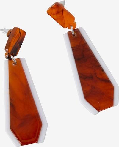 EDITED Ohrringe 'Ferbine' in rostbraun, Produktansicht