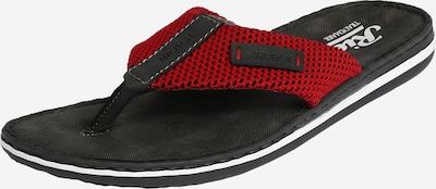RIEKER Zehentrenner in rot / schwarz, Produktansicht