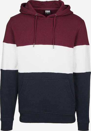 Urban Classics Sweatshirt in nachtblau / weinrot / weiß, Produktansicht
