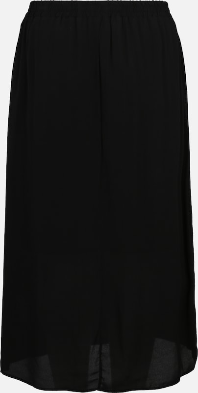 Zizzi Rock 'ELORI, LONG, SKIRT' in schwarz: Rückansicht